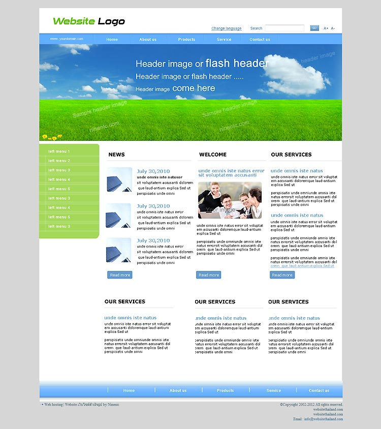 เว็บไซต์สำเร็จรูปที่ใช้งานง่ายถูกใจ -website template 1506