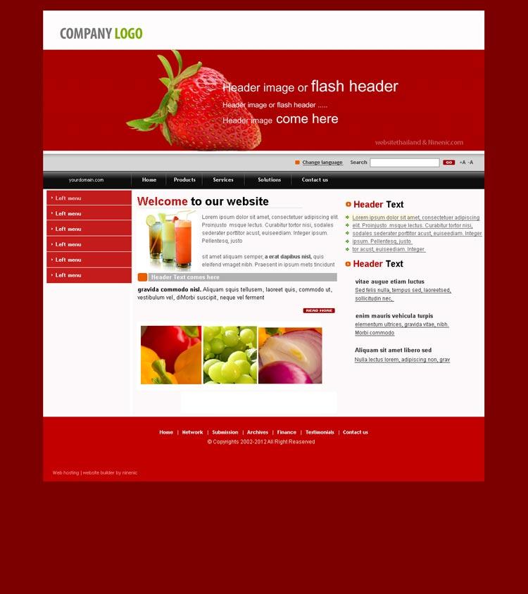เว็บไซต์สำเร็จรูปที่ใช้งานง่ายถูกใจ -website template 1515