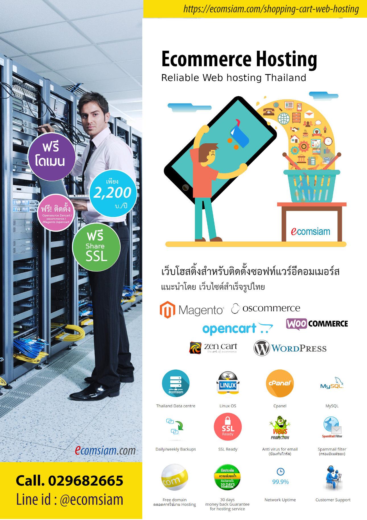 โบรชัวร์ ecommerce web hosting(Pdf)