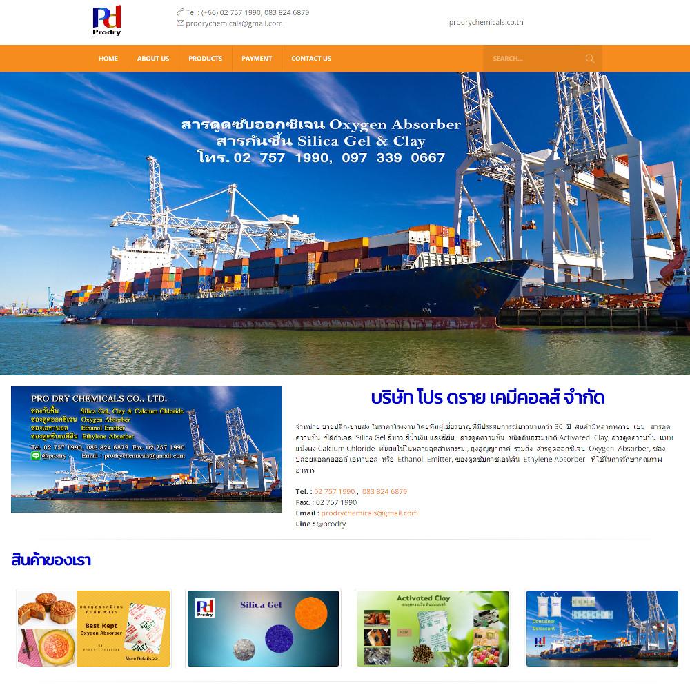 เว็บไซต์ องค์กร ธุรกิจ - เว็บไซต์สมาชิก เว็บไซต์สำเร็จรูป ninenic - prodrychemicals.co.th