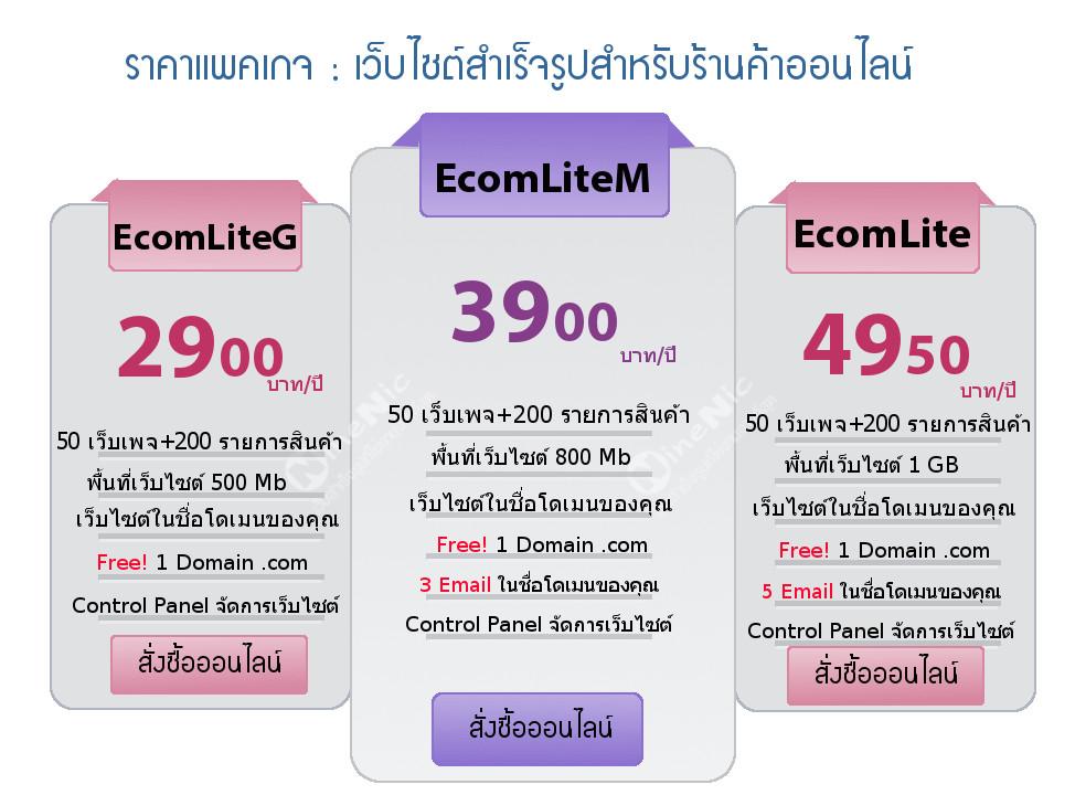 บริการออกแบบและจัดทำเว็บไซต์-เว็บไซต์สำเร็จรูป แพคเกจสำหรับร้านค้าออนไลน์-Ecommerce website